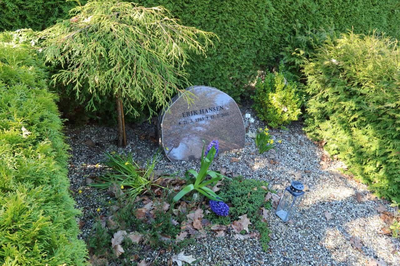 gravsten på gravsted i Nordsjælland