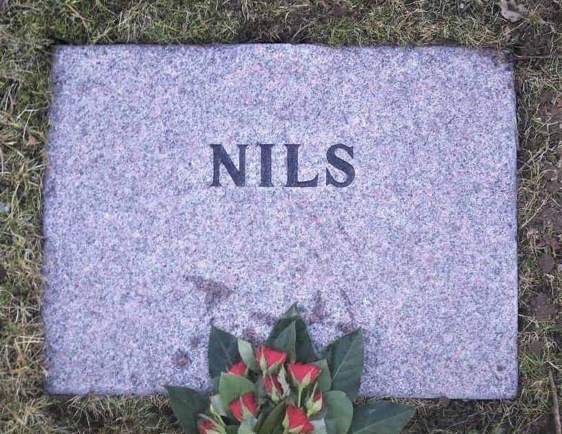 gravsten i Nordsjælland med kort inskription